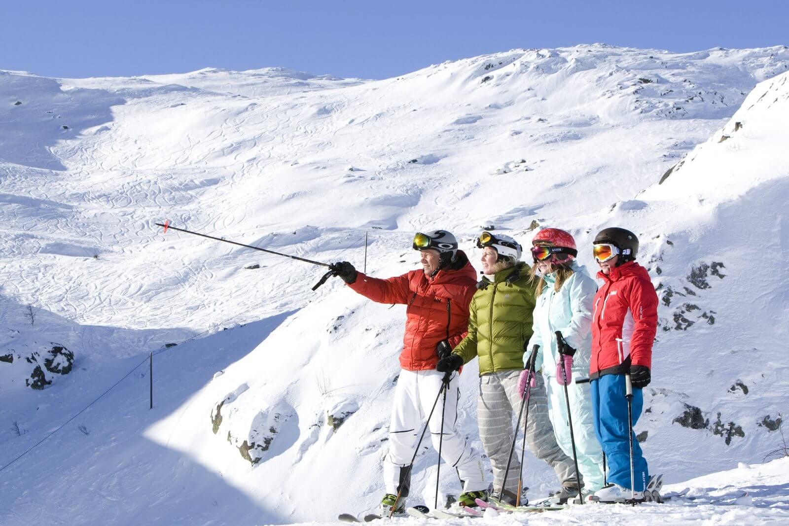 hemsedal ski gruppe familie